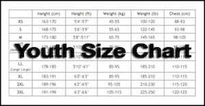 Youth size chart2