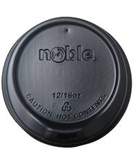 Noble 12/16 oz BLACK Sipper Lids x 100