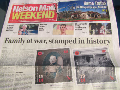 0120 Mirfin family WWI Stamp Issue 2014 400