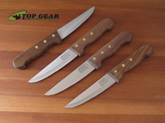 Chicago Cutlery 4 Piece Basics Steak Knife Set W Walnut Handle 1043898