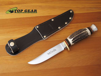 Linder Traveller Knife With Staghorn Handle 190110
