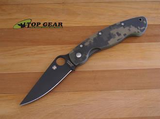 Spyderco Military Tactical Folding Knife Digital Camo C36pcmobk