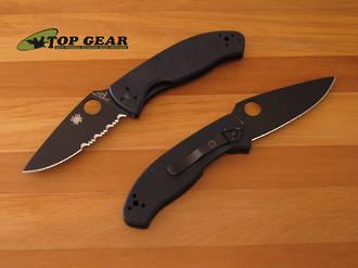 Spyderco Tenacious Folding Knife C122gbbkps Serrated C122gbbkp Plain
