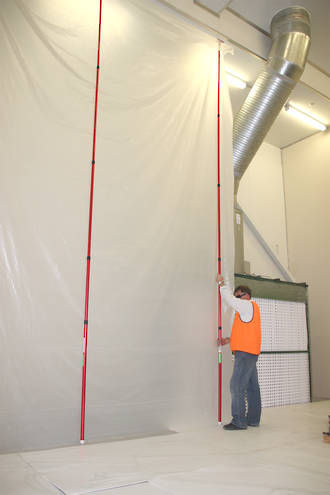 High Ceiling Zip Wall Poles Kit Of 2 Dust Containment Ultimate Solutions