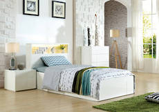 Delta King Single Bed Gloss White