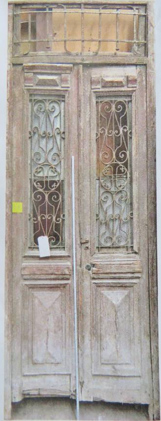 French antique door with wrought iron panels 2500 pair for European french doors
