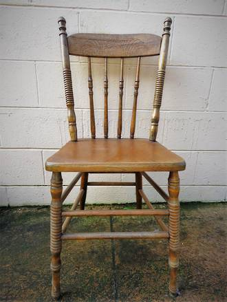 Set x 4 antique beech cottage chairs 1060 yvonne for C furniture warehouse manukau